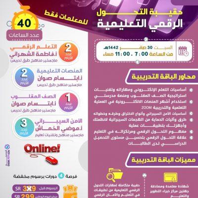 حقيبة التحول الرقمي التعليمية (( للنساء فقط ))
